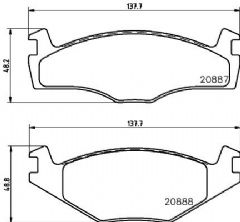 Brake Pads Front 239x10mm & 239x18mm 95 to 96 only
